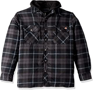 Men's Relaxed Fit Hooded Quilted Shirt Jacket