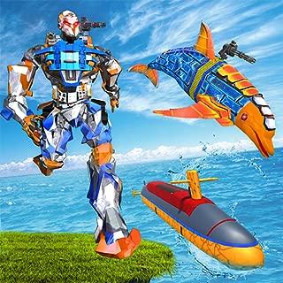 Robot Dolphin Transform Submarine: Army Robot Game