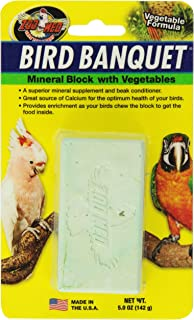 Zoo Med Mineral Block With Vegetables Bird Banquet, 5-Ounce