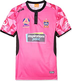 Viva Boys' Newcastle Jets Player Authentic Gk Home Jersey Junior Pink T-Shirts, Pink, Junior 14