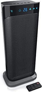 Brandson – Calefactor con mando a distancia – Calefactor de cerámica para cuarto de baño bajo consumo silencioso – Calefactor rápido con función de oscilación