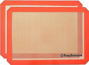 Freshware Silicone Non-Stick Baking Mat, Half Size,16.5 x 11.6 inch, 2-PacK, BM-102PK