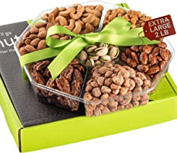 Holiday Nuts Gift Basket - Extra Large 2LB - Sweet & Salty Dry Roasted Gourmet Gift Basket - Edible Arrangement Food Gift ...