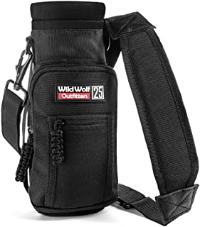 Wild Wolf Outfitters - #1 Best Water Bottle Holder for 25 oz Bottles - Carry, Protect and Insulate Your Flask with This Mi...