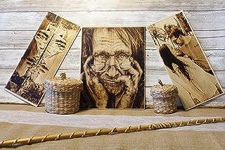 custom wood burning portrait