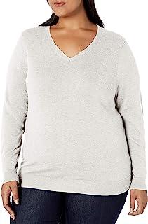 Amazon Essentials Suéter Ligero con Cuello en V Suéter para Mujer