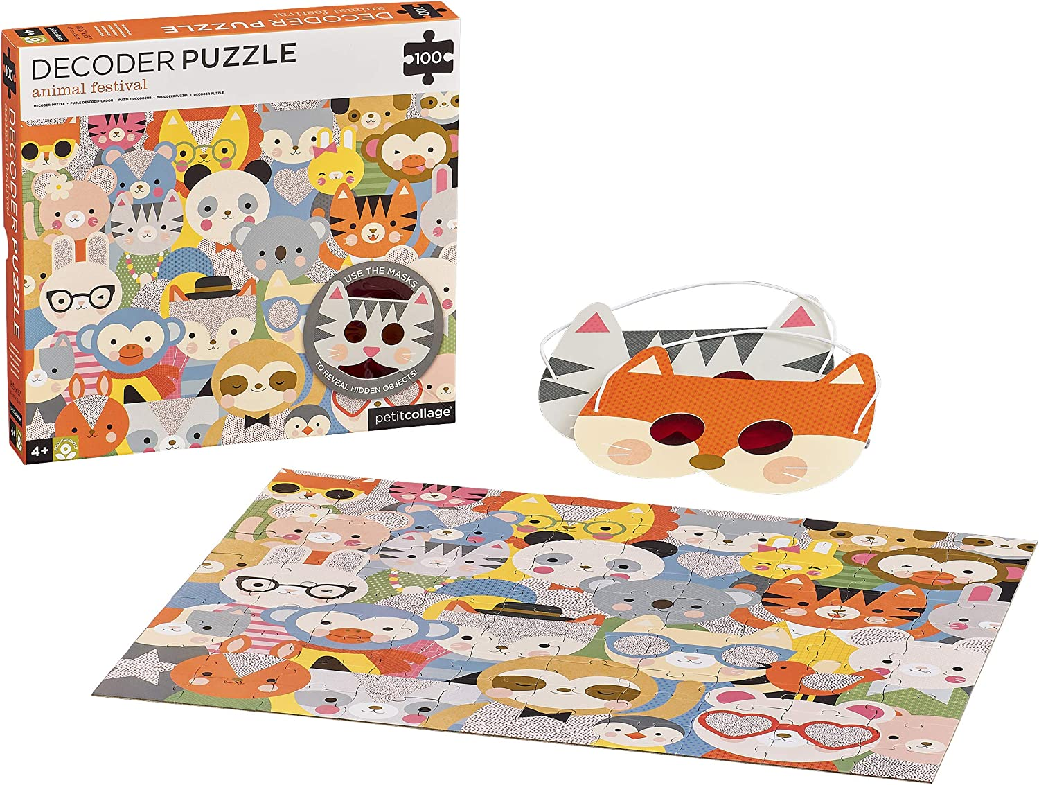 Petit Collage Animal Sales of SALE items from new works Ranking TOP8 Festival Children's Decoder Puzzle 10