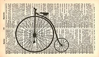PENNY FARTHING ART PRINT - VINTAGE ART PRINT - TRANSPORT Art Print - BICYCLE ART PRINT - Illustration - Vintage Dictionary...