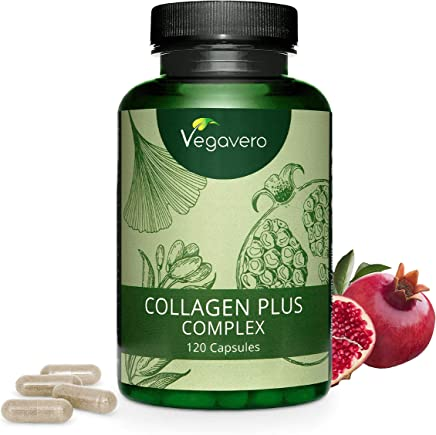 VEGAVERO® Vegan Plant-Based Collagen | NO Animal Ingredients | Without additives | with Pomegranate, Goji Berries, Acerola, Ginseng, Rose Hip, Lysine and Proline | 120 Capsules