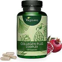 VEGAVERO® Collagen Complex | 100% VEGAN – ohne tierische Inhaltsstoffe | Kollagenbildung* | Ohne Zusätze | Laborgeprüft | Granatapfel, Goji, Acerola, Ginseng, Hagebutte, Aminosäuren | 120 Kapseln