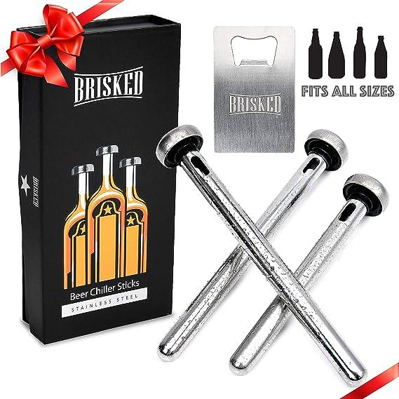 Beer Chiller Sticks for Bottles Set | Birthday Christmas Gifts for Men