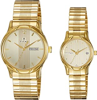 Titan Bandhan Analog Gold Dial Couple Watch -NK15802490YM05