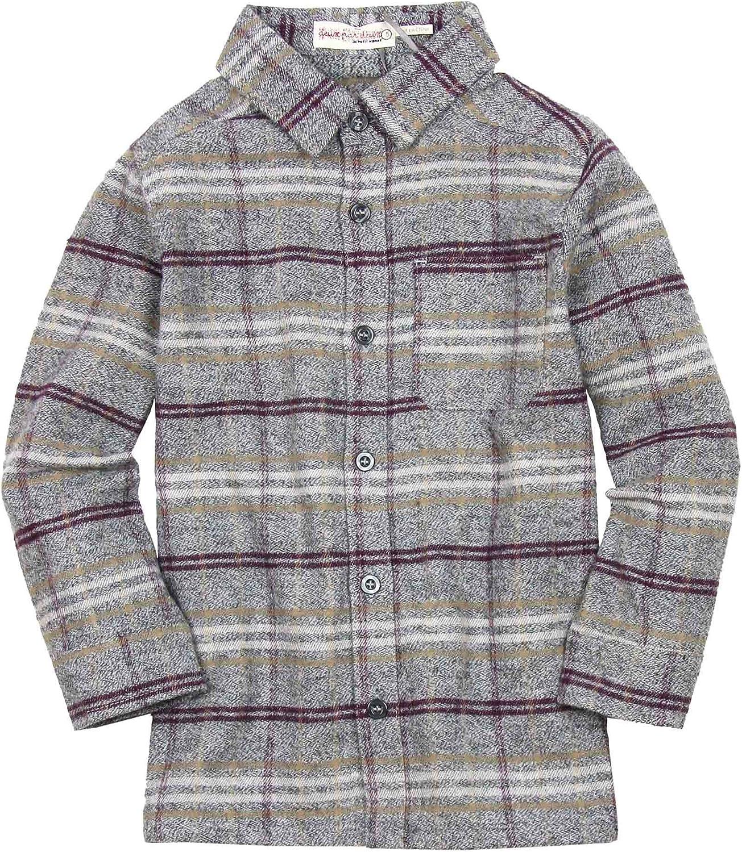 Deux par Deux Boys' Flannel Shirt Play It Like Crockett, Sizes 4-12
