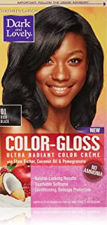 SoftSheen-Carson Dark and Lovely Color-Gloss Ultra Radiant Color Crème, Rich Black 01