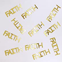 Metallic Confetti Word - FAITH in 12 Colors (Also Available in Paper) #4169