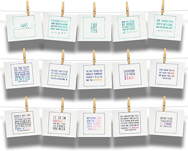 Encourage Inspire Empower Emerge Postcard 15 Pack Assortment Collection Of Empowering Postcards