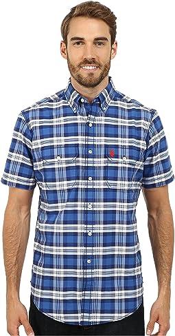 Short Sleeve Plaid Sport Shirt