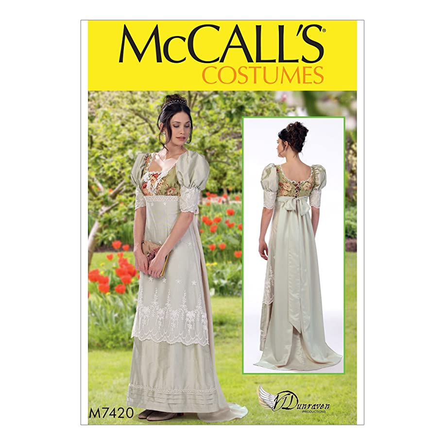 McCall's M7420 Women's Victorian Gown Costume Sewing Pattern, Sizes 14-22