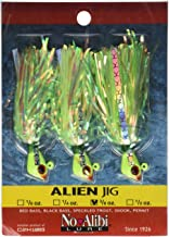 No Alibi Alien Jig, 3/8-Ounce, Pearl Green Finish