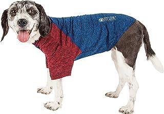 """تي شيرت الكلاب """"هايبريل"""" من Pet Life مصنوع من نسيج مطاطي ثنائي الألوان Medium TSHL3BLMD"""