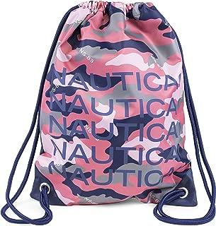 Nautica Girls' Big Drawstring Backpack Cinch Bag, Camilla Rose, One Size