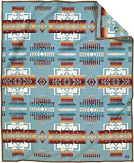 Pendleton Chief Joseph Wool Blanket, Aqua, King Size