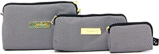 JuJuBe Be Set Travel Accessory Bags, Legacy Collection - The Queen of The Nile - Black/White Chevron