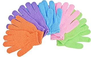 Bath Gloves 5 Pairs,Shower Gloves, Exfoliating Bath Gloves,Shower Accessories Used for soap and Body wash,Makes The Skin Soft and Clean AOLANS,Exfoliating Gloves