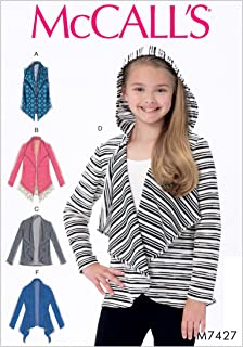 McCall's Patterns M7427CHJ Girls' Shawl Collar Vest and Cardigans