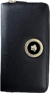 100% Leather Black Logo Embellished Women's Wallet