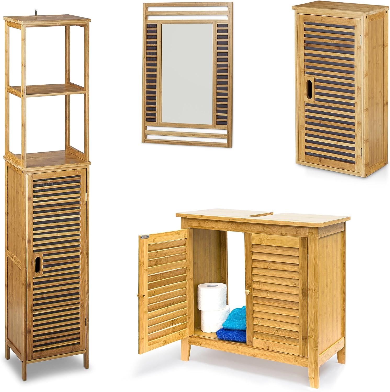 4 teilige Badezimmer-Einrichtung, aus aus aus Bambus ...
