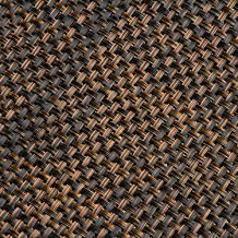 Riegel VPM-1217-BLW Basket Weave Vinyl Placemats, Black Walnut, Set of 4