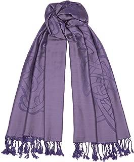 Heather Purple Long Celtic Design Jacquard Scarf