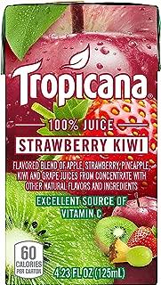 Tropicana 100% Juice Box, Strawberry Kiwi, 4.23 Fl Oz, Pack of 44