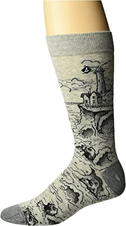 Sperry - Sketchy Seascape Novelty Crew