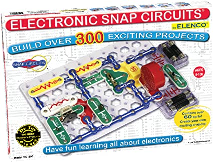 Snap Circuits Classic SC-300 Electronics Exploration Kit   Over 300 Projects   Full Color Project Manual   Snap Circuits Parts   STEM Educational Toy for Kids 8+ 2.3 x 13.6 x 19.3 inches
