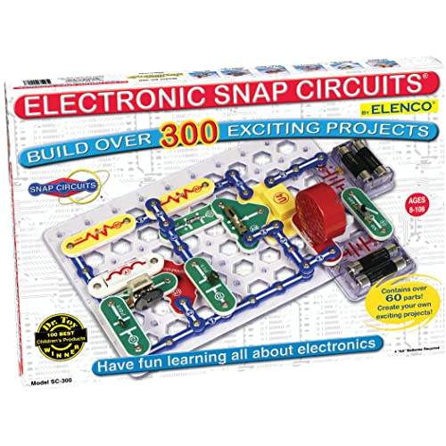 Snap Circuits Classic SC-300 Electronics Exploration Kit | Over 300 Projects | Full Color Project Manual | 60+ Snap Circuits Parts | STEM Educational Toy for Kids 8+
