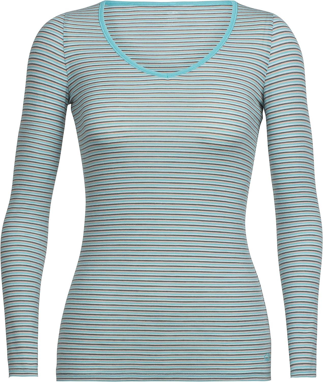 Icebreaker Merino Siren Long Sleeve Sweetheart Neck Shirt, New Zealand Merino Wool