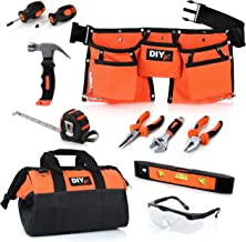 My First Tool Set by DIYjr – Real Tool Set for Kids Steel Forged Tools for Children Kids Toolbelt Child-sized Tools Tool Bag for Kids Real Tools for Boys Tool Set for Girls Tools for Small Hands
