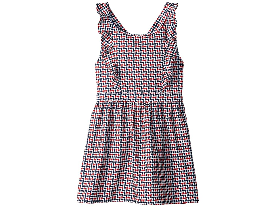 Tommy Hilfiger Kids Houndstooth Dress (Big Kids) (Flag Blue) Girl