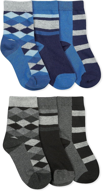 Ranking TOP15 National uniform free shipping Jefferies Socks Boys Fashion Pair 6 Pack Crew