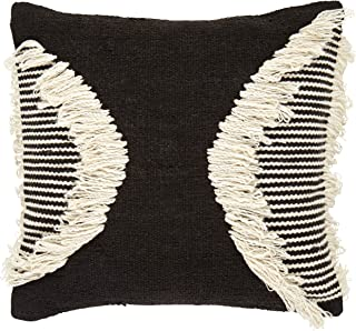 Rivet Modern Throw Pillow - 18 x 18 Inch, Black / White