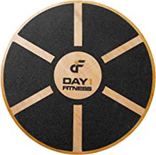 Day 1 Fitness Balance Board, 360° Rotation, for Balance, Coordination, Posture - Large, Wooden Wobble Boards with 15° Tilting Angle for Workouts, Physical Therapy - Premium Core Trainer Equipment