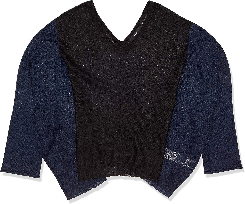 Diesel M Splitty Womens Pullover Sweater Black (L)