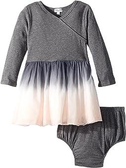 Splendid Littles - Long Sleeve Sweater Dip-Dyed Tulle Dress (Infant)