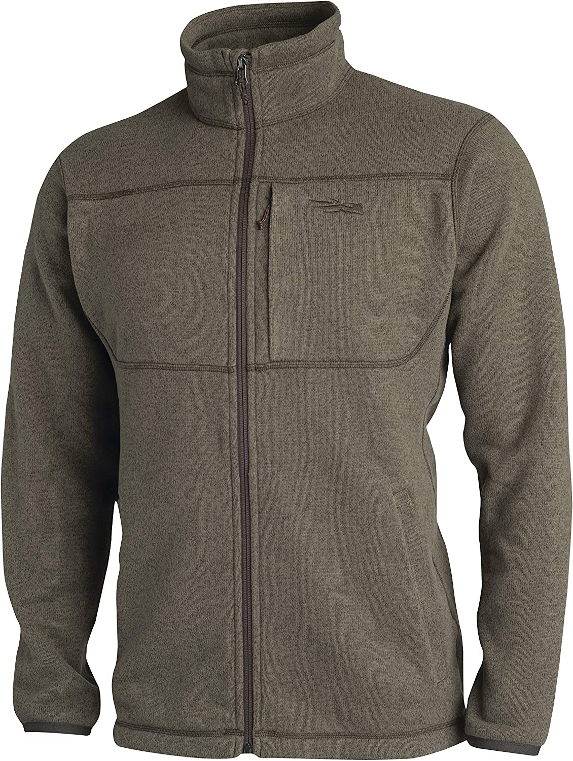 SITKA Gear Mens Fortitude Half-Zip Windproof Abrasion-Resistant Breathable Everyday Fleece Jacket Eclipse Small