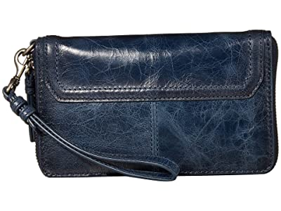 Frye Mel Zip Wallet (Navy) Wallet Handbags