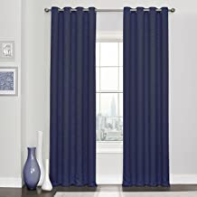 """ECLIPSE Blackout Curtains for Bedroom - Kingston 52"""" x 84"""" Insulated Darkening Single Panel Grommet Top Window Treatment L..."""