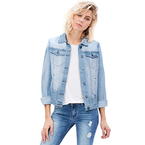 34a805cca05 HyBrid   Company Women Junior Classic 4 Pockets Denim Jacket
