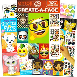 Bendon Publishing Make a Face Sticker Books for Girls Kids Toddlers -- Set of 3 Jumbo Books with Over 90 Faces and 750 Sti...